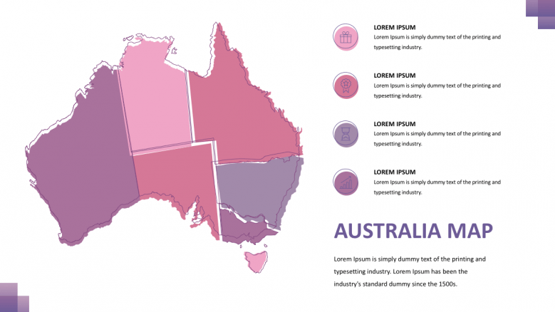 colorful Australia maps