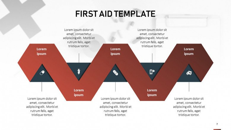 First Aid Infographic Process Diagram