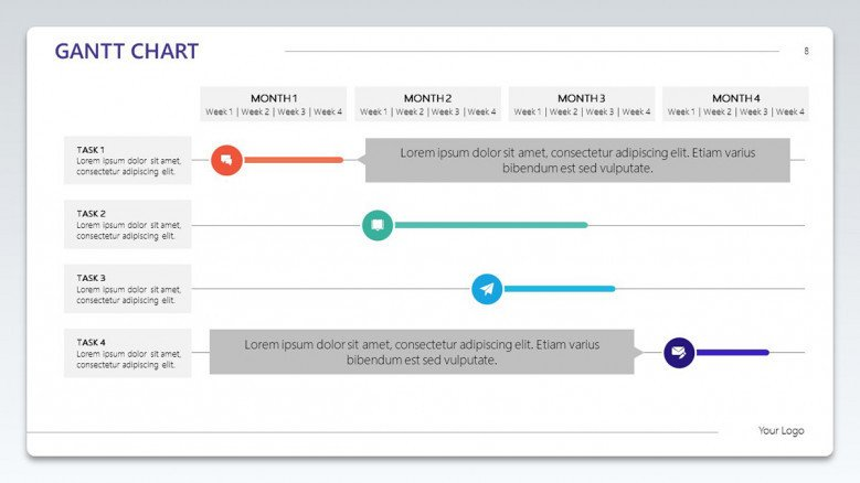 gantt chart monthly task planning