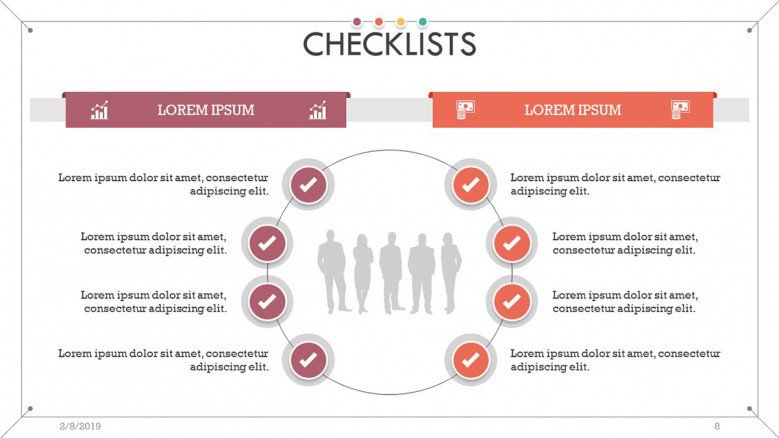 checklist presentation in cycle chart