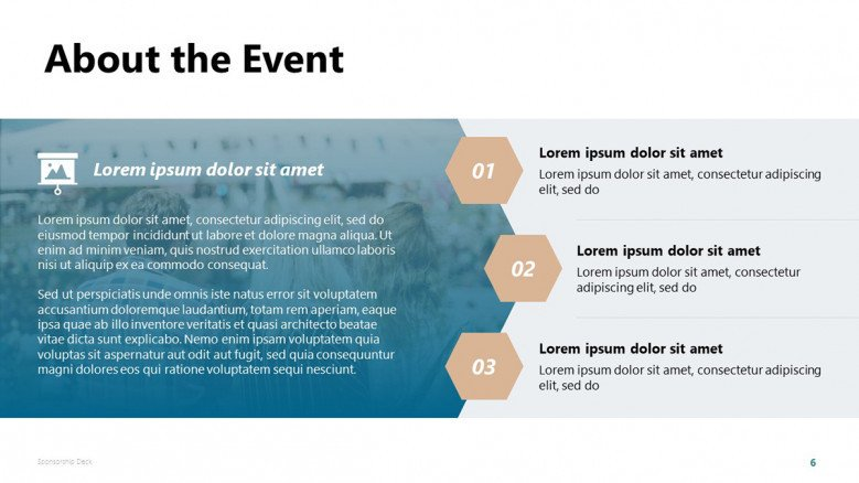 About the Event Slide in creative style