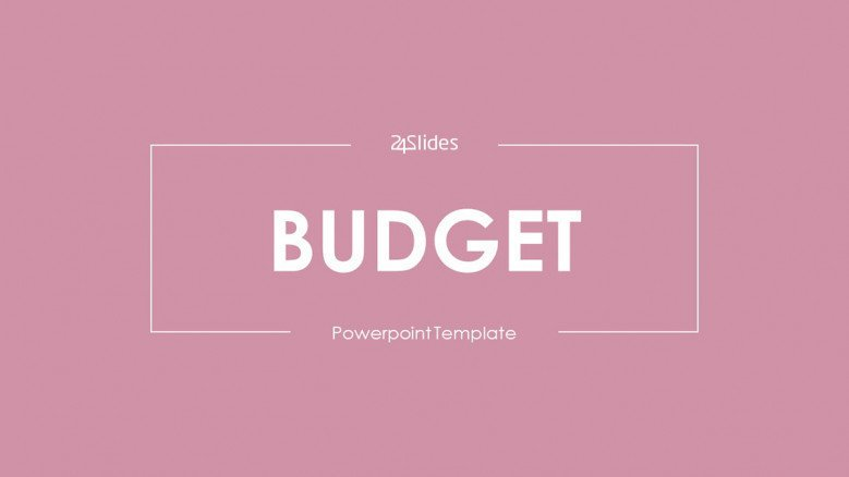 welcome slide for budget presentation