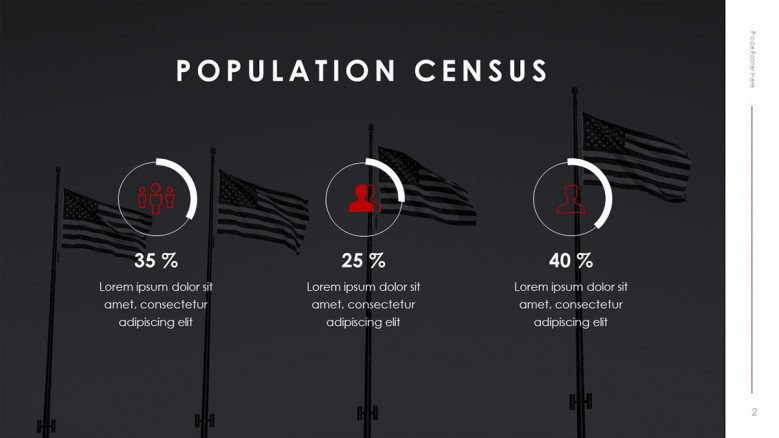 American Population Census Slide