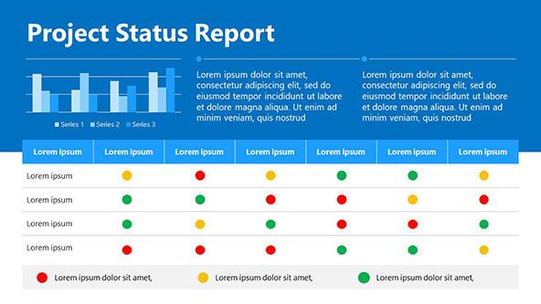 Project Status Report Template with charts