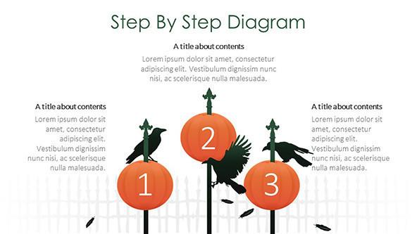 creative step by step diagram halloween slide