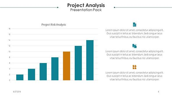 project analysis slide in vertical bar chart