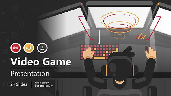 Video Game Startup Pitch Deck Presentation Template
