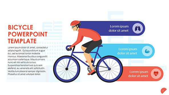 Biking Health Benefits Slide with icons
