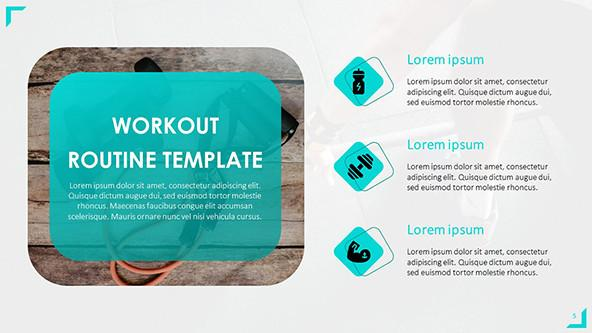 Workout Routine PowerPoint Template