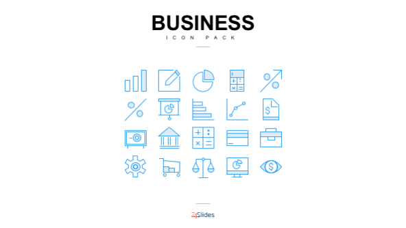 Presentation icons for business use