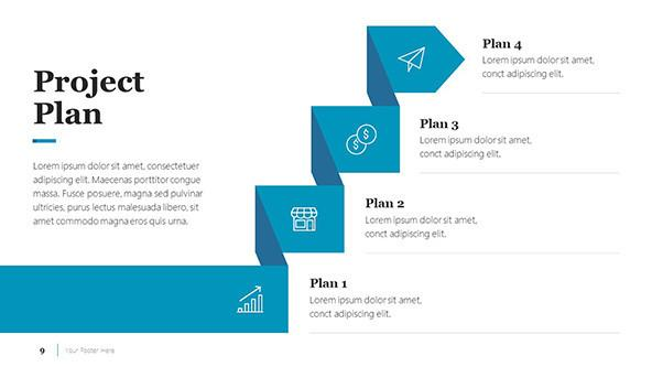 Project Plan Slide for a Business Case Presentation