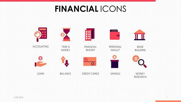 FREE Google Slides Financial Icons Template PowerPoint Template