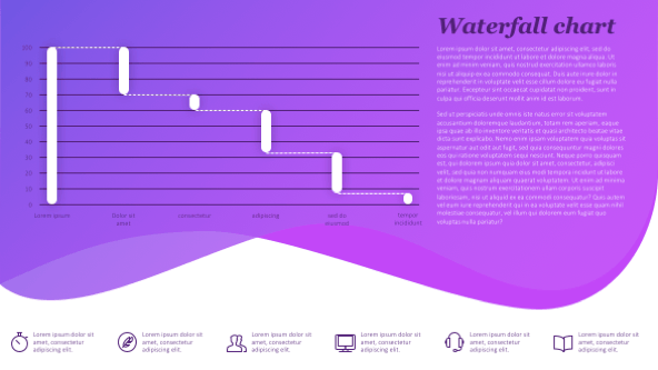 Creative Waterfall Template slides