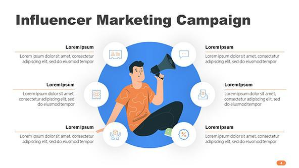 Influencer Marketing Campaign with illustration