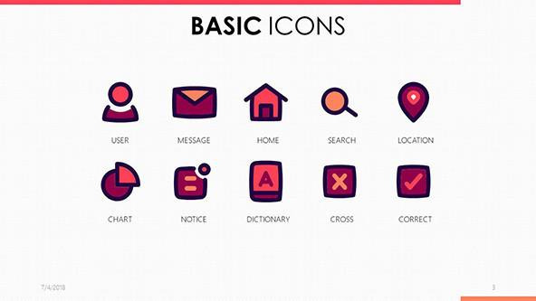 Basic Icons for PowerPoint template