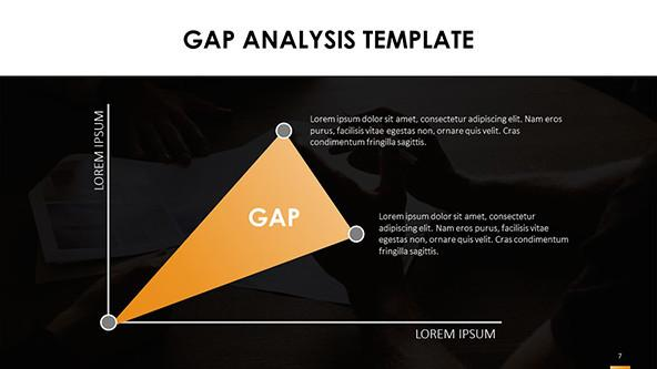 GAP Analysis Chart in dark template