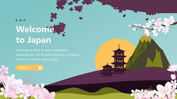 FREE Playful Japanese Presentation PowerPoint Template