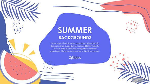 Tropical Summer PowerPoint Backgrounds