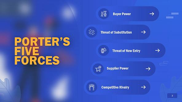 FREE Porter's Five Forces PowerPoint Template PowerPoint Template