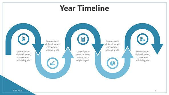 FREE Yearly Timeline PowerPoint Template PowerPoint Template