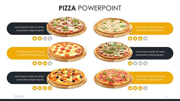 Best-selling pizzas slide for customers' review