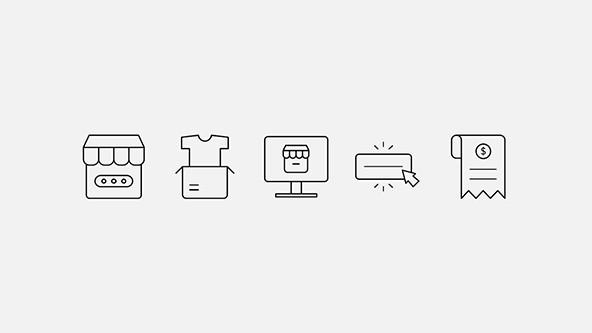 FREE E-commerce Icon Set for Presentations PowerPoint Template
