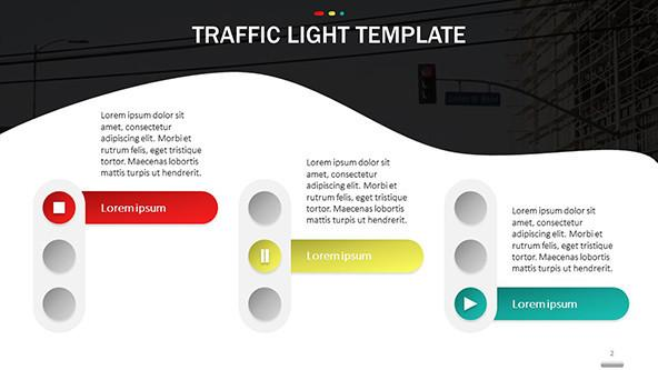 FREE Creative Traffic Light Template PowerPoint Template