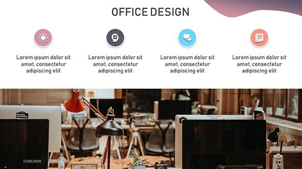 FREE Modern Office Design PowerPoint Template PowerPoint Template