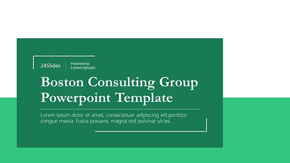 Boston Consulting Group PowerPoint Template