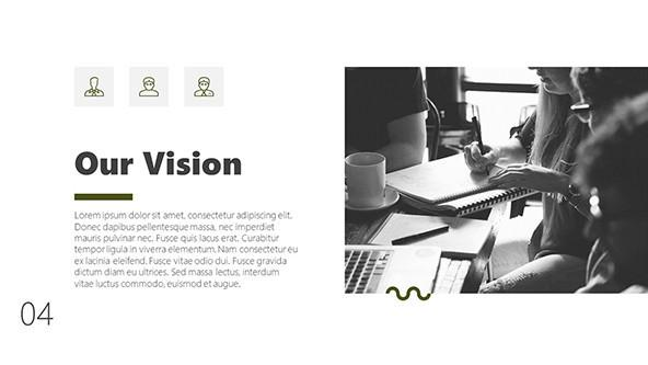 Black and white slide for a Business Presentation
