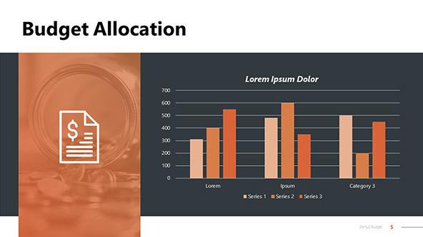 Budget allocation powerpoint slide