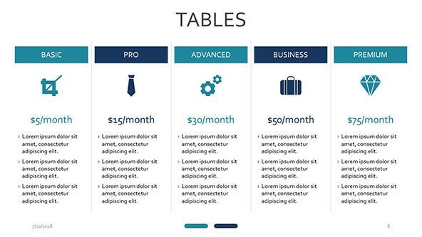 Tables Free Powerpoint Template
