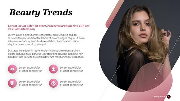 Soft pink Beauty Trends PowerPoint Slide