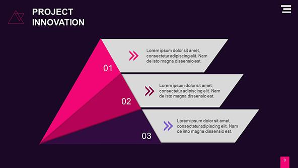 FREE Triangle Graphs for Creative Presentations PowerPoint Template