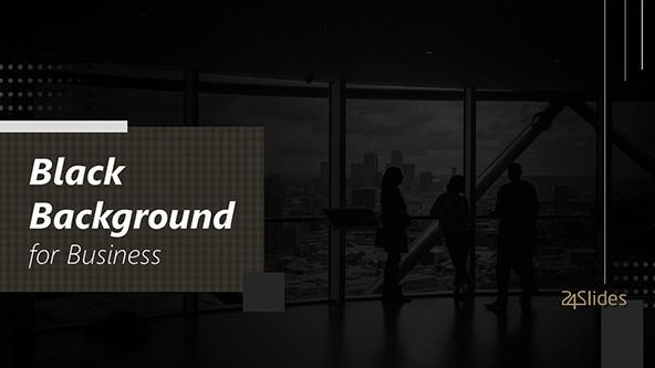 FREE Elegant Black PowerPoint Backgrounds PowerPoint Template