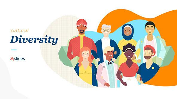 Illustrated Cultural Diversity PowerPoint Slide