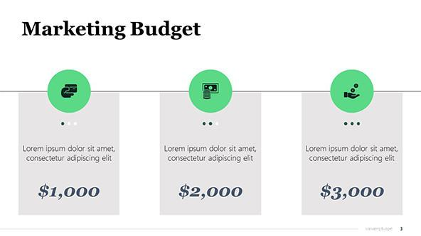 Marketing Campaign Budget PowerPoint Slide
