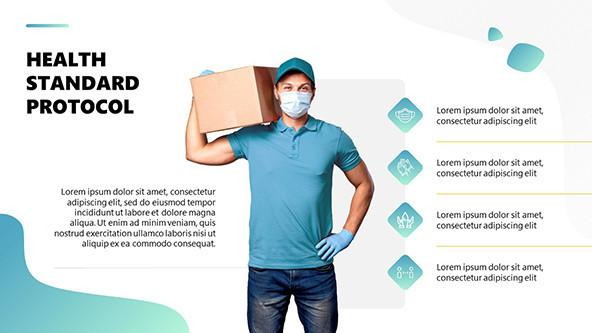FREE Safe Food Delivery PowerPoint Presentation PowerPoint Template