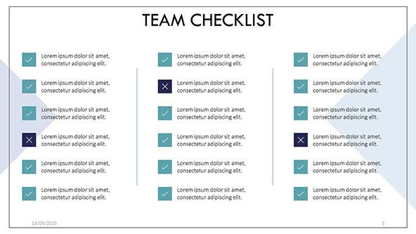 Simple Team Checklists in PowerPoint