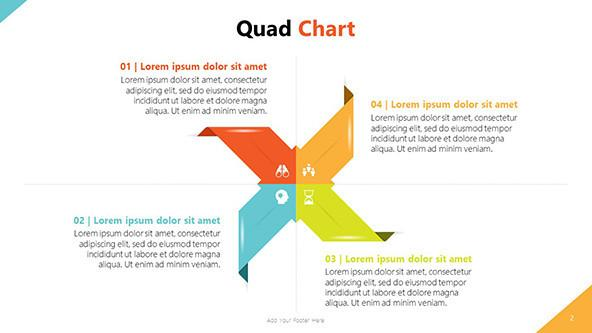 Quad Chart Template For Presentations Free Powerpoint Template