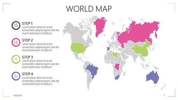 FREE World Map PowerPoint Template PowerPoint Template