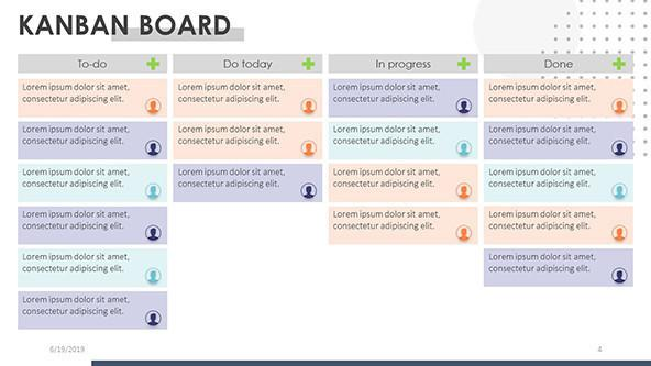 FREE Creative Kanban Board PowerPoint Template PowerPoint Template