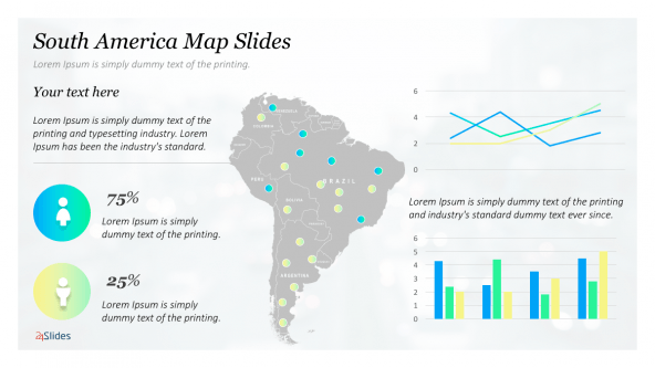 FREE Presentation Template Maps: South America PowerPoint Template