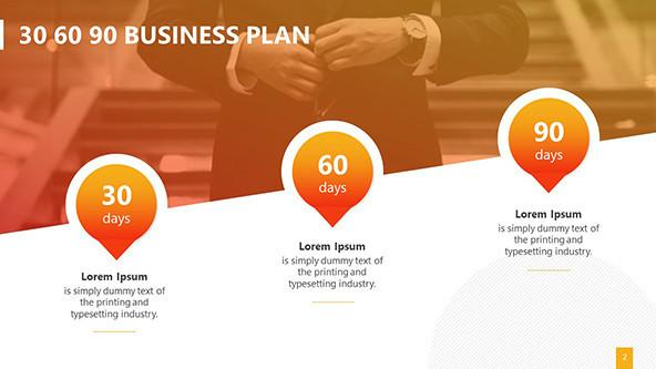 FREE Creative 30 60 90 Business Plan Template PowerPoint Template