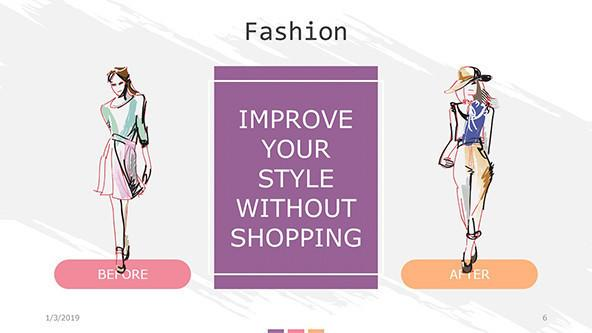 fashion slide in two illustrated designs