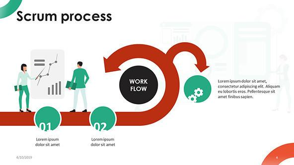 scrum process with creative illustration