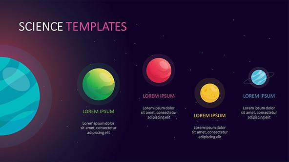 5-step roadmap with planets in a universe background
