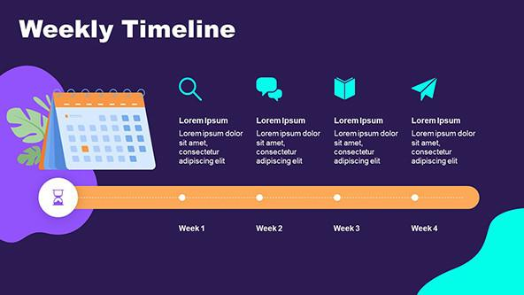 Event Timeline in playful style