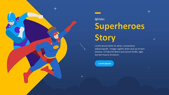 FREE Fun Superheroes Story PowerPoint Template PowerPoint Template