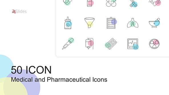 FREE 50 Pharmaceutical and Medical Icons for PowerPoint PowerPoint Template